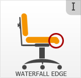 Waterfall seat edge